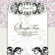 Damask invitation card — Stock Vector #14112076