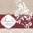 Stock Vector: Damask invitation card