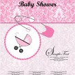 Stock Vector: Baby shower invitation