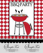 Barbecue Party Invitation — Vector de stock