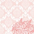 Damask invitation card — Imagen vectorial