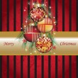 Vector de stock : Set of different colored Christmas balls