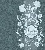 Floral background mit platz für ihren text — Stockvektor