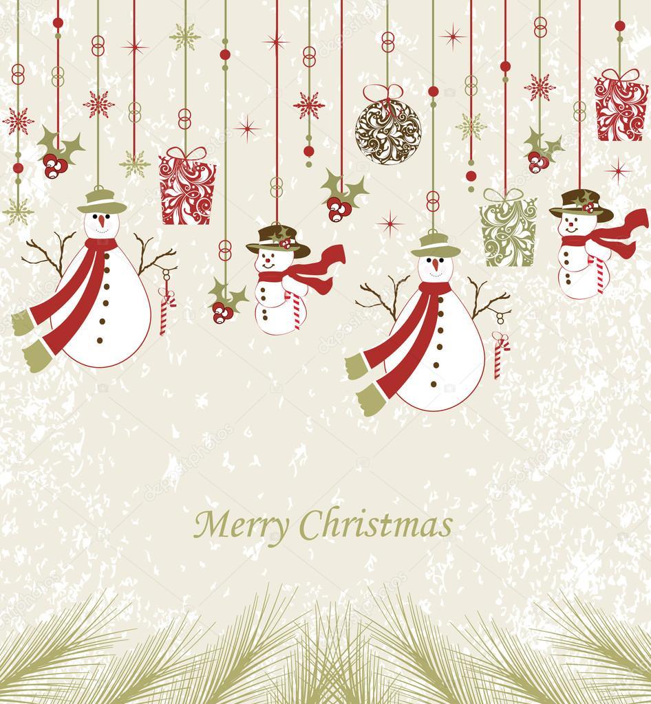 Elegant christmas background stock vector imagepluss for Weihnachtskugeln vintage
