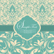 Wedding invitation card - Stockvectorbeeld