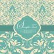 Stock vektor: Wedding invitation card