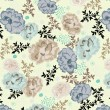 Floral seamless pattern with hand drawn flowers - Vettoriali Stock