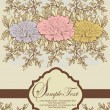 Vintage floral invitation card — ベクター素材ストック