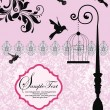 Wedding invitation card - Image vectorielle