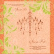 Floral vintage invitation card - Vettoriali Stock