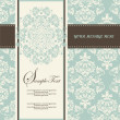 Invitation card style damask - Vettoriali Stock