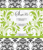 Damask lime shower invitation card — Vector de stock