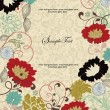 Vintage floral background. Greeting card with place for your text — Stock Vector