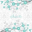 Wedding card or invitation with abstract floral background — Stockvectorbeeld