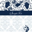 ストックベクタ: Elegant blue invitation card