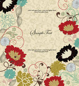 Vintage floral background. Greeting card with place for your text — Vettoriale Stock