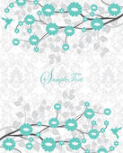 Wedding card or invitation with abstract floral background — Vettoriale Stock
