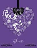 Beautiful floral heart — Stockvektor