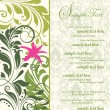 Stock Vector: Green bridal shower invitation