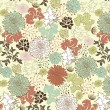 Floral seamless pattern, vector design - Vettoriali Stock