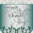 Vintage styled card with floral ornament background - Векторная иллюстрация