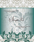 Vintage styled card with floral ornament background — Vettoriale Stock
