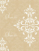 Vintage floral background. Greeting card with place for your text — Cтоковый вектор