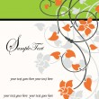 Vintage invitation card with floral background and place for text - Image vectorielle