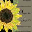 Vintage Elegant Sunflower Wedding Invitation - Image vectorielle