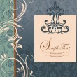 Floral invitation card with place for text - Stockvectorbeeld