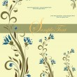 Retro floral background - 