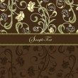 Brown floral card - 
