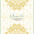 Vector ornate frame with floral elements - 