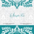 Blue swirly invitation card - Stockvectorbeeld