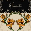 Wedding card or invitation with abstract floral background - Stockvectorbeeld