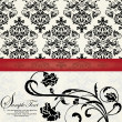 FLORAL DAMASK INVITATION CARD - Stockvectorbeeld