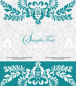Blue swirly invitation card — Stock Vector