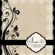 Damask  shower invitation card — Stockvektor