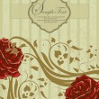 Romantic floral background with vintage roses — Imagen vectorial