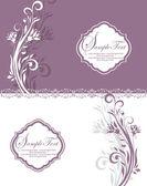 紫カード — ストックベクタ