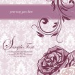 Purple and white floral invitation card - Stock vektor