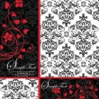Royalty-Free Stock Vektorfiler: elegant damask wedding invitation