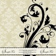 Vintage floral background. Greeting card with place for your text — Stock Vector #22073587