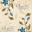 Vintage floral background. Greeting card with place for your text - Imagen vectorial