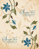 Vintage floral background. Greeting card with place for your text — ストックベクタ