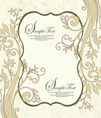 Vintage floral background. Greeting card with place for your text — Vector de stock