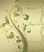 Vintage floral background. Greeting card with place for your text — 图库矢量图片