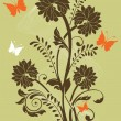 Ornate card announcement - Imagen vectorial