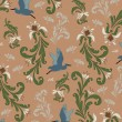 Vintage background, pattern - Imagen vectorial