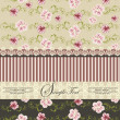 Vintage floral invitation card — Image vectorielle